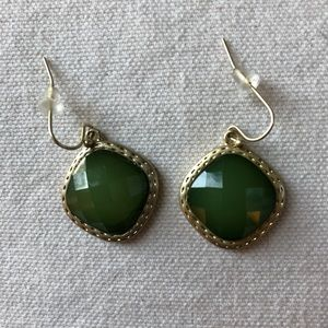 Boutique Green and Gold Earrings NWOT